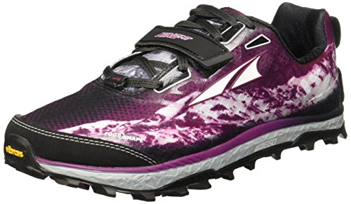 Altra King MT Trail Running Shoe - Womens Gray/Magenta 8