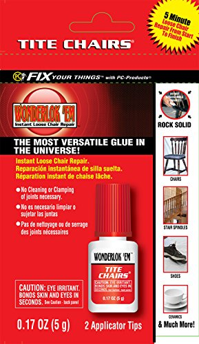 Wonderlokking/Division of PC-Products EMW1226513 5G Tite Chair Glue, 5 Grams, Clear