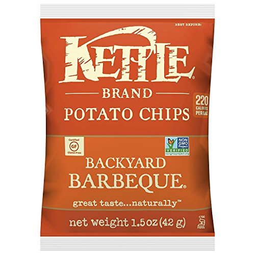- Kettle Brand Potato Chips, Backyard Barbeque, Single-Serve 1.5 Ounce Bags (Pack of 24)
