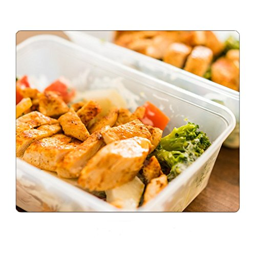 Box Diet Fitness Meal Lunch Grilled Chicken Steak Mousepad Gaming Mouse Pad 9.8 11.8 inch