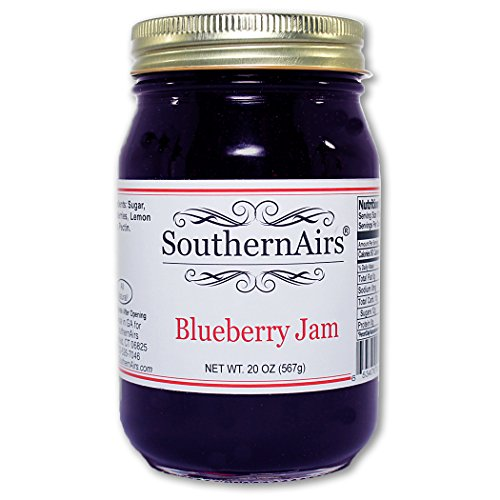 (SouthernAirs Classic Blueberry Jam / Farm picked Blueberries / Tastes Like Home/ 20 oz.)