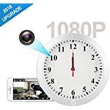 AMCSXH HD 1080P WIFI Hidden Camera Wall Clock Spy Camera with Motion Detection, Security for Home and Office, Nanny Cam/Pet Cam/Wall Clock Cam, Remote-Real Time Video, Support IOS/Android/PC