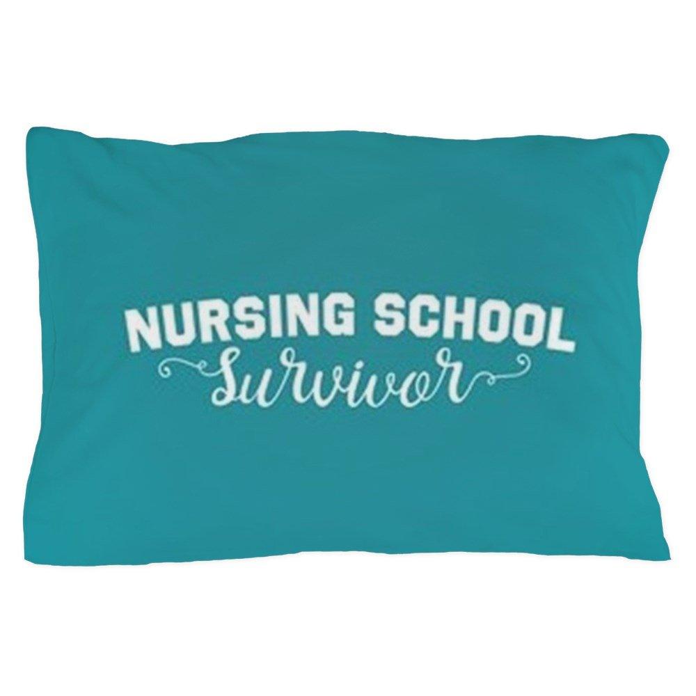 CafePress - Nursing School Survivor - Standard Size Pillow Case, 20''x30'' Pillow Cover, Unique Pillow Slip