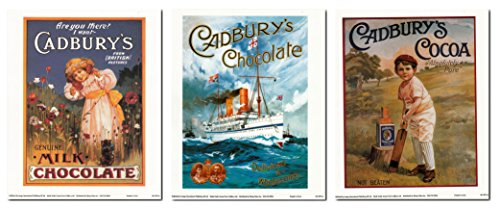 - Wall Decor Art Print Cadbury's Chocolate, Delicious and Wholesome, Vintage Ad 8x10 Three Set Posters