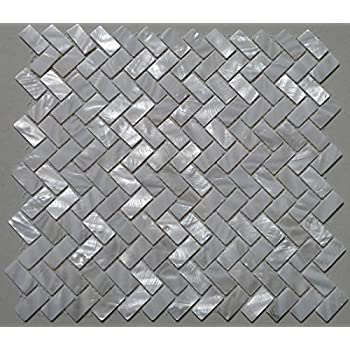 Amazon.com: White Fish Scale Shell Mosaic Tile Mother of Pearl ...