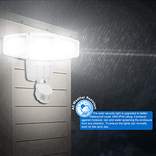 Solar Lights Outdoor, Lovin Product Ultra Bright 182 LED 1000 Lumens Motion Sensor Lights; Wide Angle Illumination/ 3 Control Dials Mode, Security Solar Wall Lights for Driveway, Deck - White by LOVIN PRODUCT (Image #6)