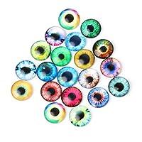 Horoshop 20Pcs Glass Dolls Eye DIY Handcraft Animal Eyes Jewelry Accessories 10/16/20mm (20mm)