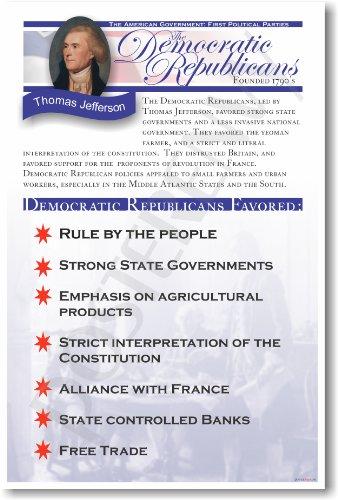 American History: The Democratic Republicans - Classroom Poster
