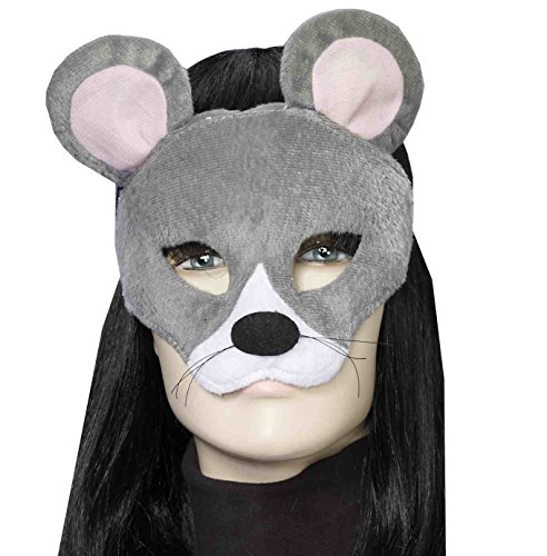 Costume Ears Rat (Forum Novelties Women's Plush Mouse Mask, Gray, One)