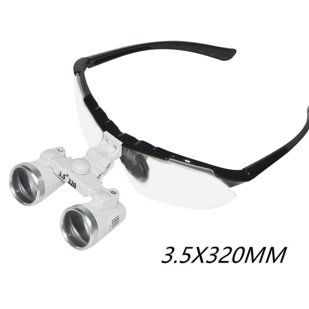 Zorvo Dentist Dental Surgical Medical Binocular Loupes 3.5X 320mm Optical Glass Loupe