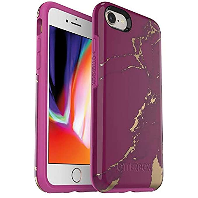 best service 3346e c6bf6 OtterBox Symmetry Series Case for iPhone 8 & iPhone 7 (NOT Plus) - Purple  Marble