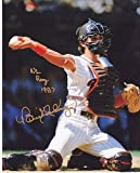 Signed Benito Santiago San Diego Padres Nl Roy 1987 Action Signed 8 x 10 Photo