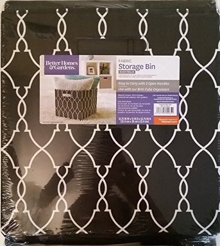 Better Homes & Gardens Collapsible Fabric Storage Bin - Black Trellis