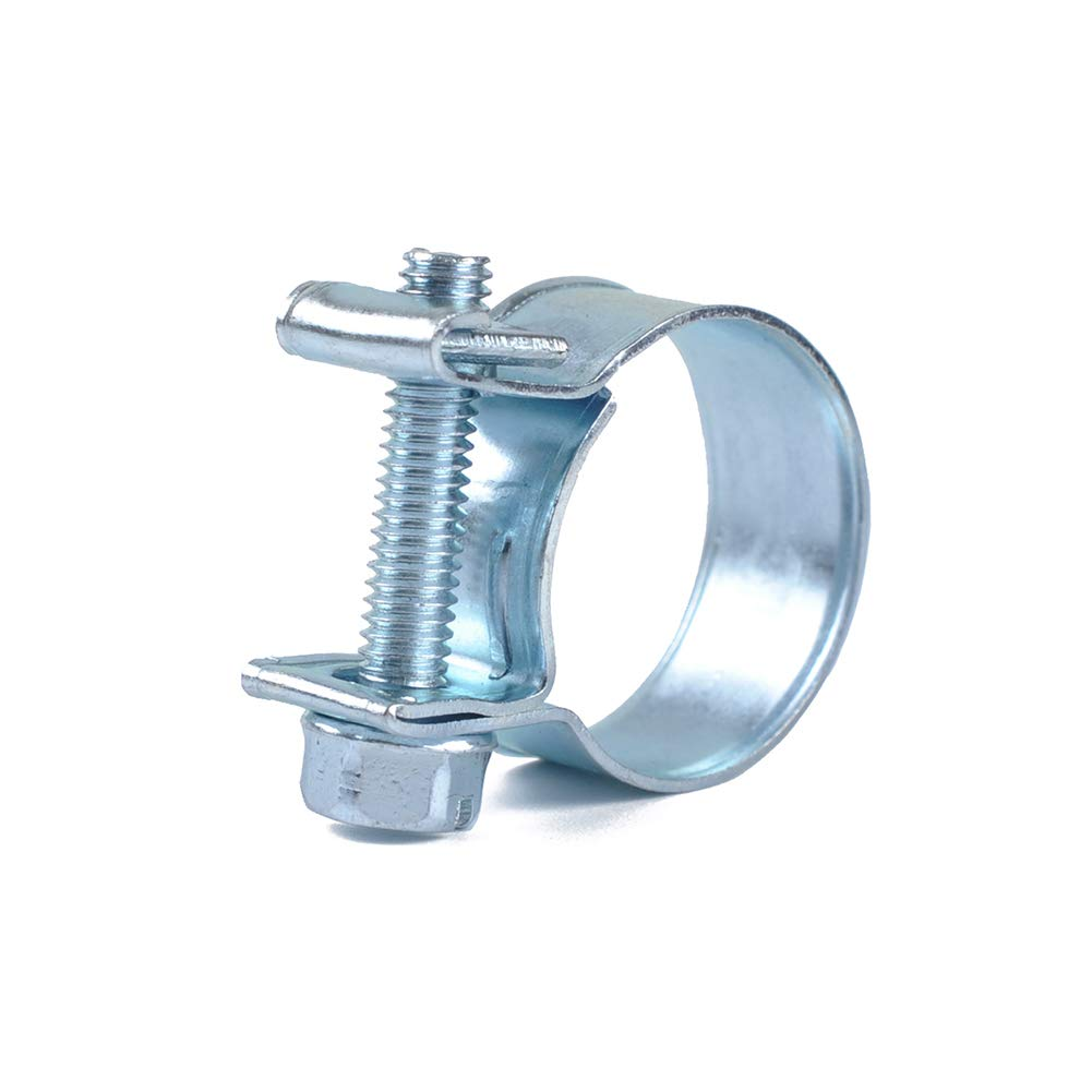 ETbotu 10pcs Set Mini Fascette stringitubo in Acciaio Inox Tubo di Linea Tubo Fascetta Clip Tubo A1732-06 12-14mm