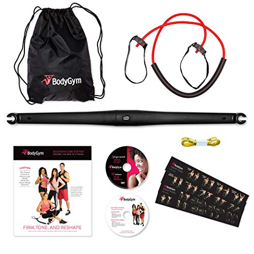 Bodygym Resistance Band + Bar All in One Portable Home Gym, Full Body Workout: Improve Fitness, Build Muscle, Burn Calories & Fat Free Strength Exercises with Marie Osmond Included - Limited Edition