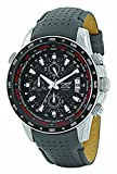 AVIATOR Chronograph Wrist Watch – Aviators Watch for Men – Leather Strap Stainless Steel Wristwatch – Waterproof Carbon Fibre Dial Colour Watch – Sport and Casual Comfortable Wrist Watch