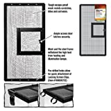 Zilla R-SRZ100011488 Fresh Air Screen Cover with Hinged Door for Pet Cages, 24-1/4 by 12-5/8-Inch, Black
