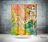 Surreal Owl Watercolor Shower Curtain. Shabby Chic home decor bathroom accessories. Matching bath mat available.