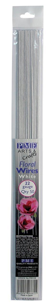 Pack of 50 PME Sugarcraft Floral Wires Green 18 Gauge 36 cm