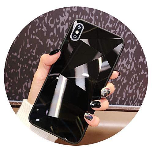 (Bright Diamond Case Luxury 3D Hard Cover for iPhone Xs Max Xr X 6 6S 8 Plus 7 Plus,Black,for iPhone 8 Plus)