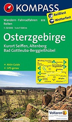 Osterzgebirge: Wanderkarte mit Aktiv Guide, Rad- und Reitwegen. GPS-genau. 1:50000 (KOMPASS-Wanderkarten, Band 808)