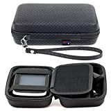 Digicharge Hard Carrying Case Tomtom Via 1425 1525 M SE 1425M 1525M 1525TM Go 52 Go 520 5200 Rider 500 550 Trucker 550 5-inch GPS Accessory Storage Lanyard - Black