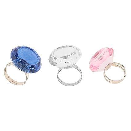 Fenteer 3 piezas de pegamento de maquillaje ajustable anillo ...