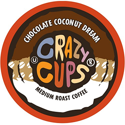 Crazy Cups Flavored Coffee for the Keurig K Cups Coffee 2.0 Brewers, Chocolate Coconut Dream, 22 Count