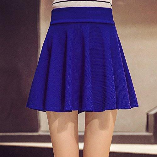 9eb47ade1a 50% de descuento KINDOYO Nueva moda falda plisada de cintura elástica color  sólido más el