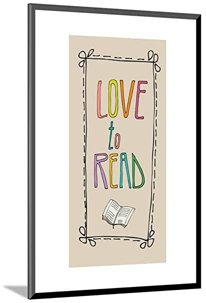 ArtEdge Background With Retro Colored Letters Love To Read Mounted Print