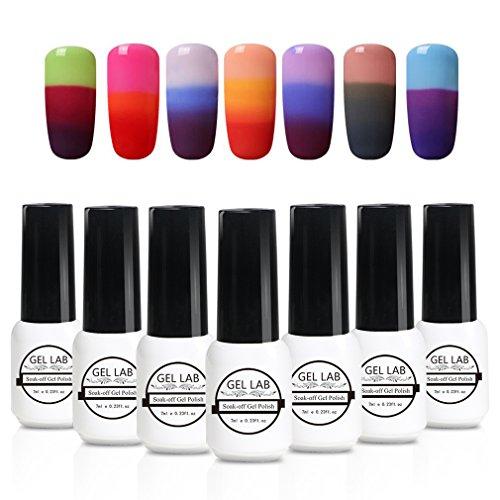 Gel Nail Polish Set GEL LAB 7pcs Color Changing Nail Polish UV Gel Nail Lacquer Nail Art Manicure New Starter Gift Kit