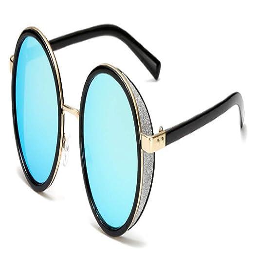 Yangjing-hl Gafas de Sol Redondas góticas Gafas de Espejo de ...