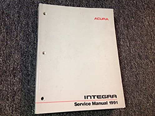 acura integra service manual 1991 honda motor company service rh amazon com honda integra dc2 workshop manual honda integra service manual pdf