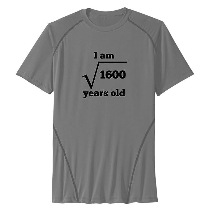 Los hombres de la raíz cuadrada – 40th cumpleaños deporte Funny camisas. - negro -