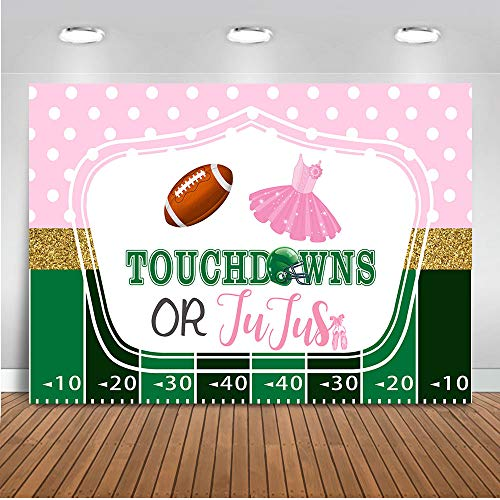 Football Decorations Ideas - Mocsicka Touchdowns or Tutus Gender Reveal