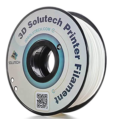 3D Printer PLA Filament 2.85MM Filament, Dimensional Accuracy +/- 0.03 mm, 2.2 lbs (1.0KG) - 3D Solutech (White)