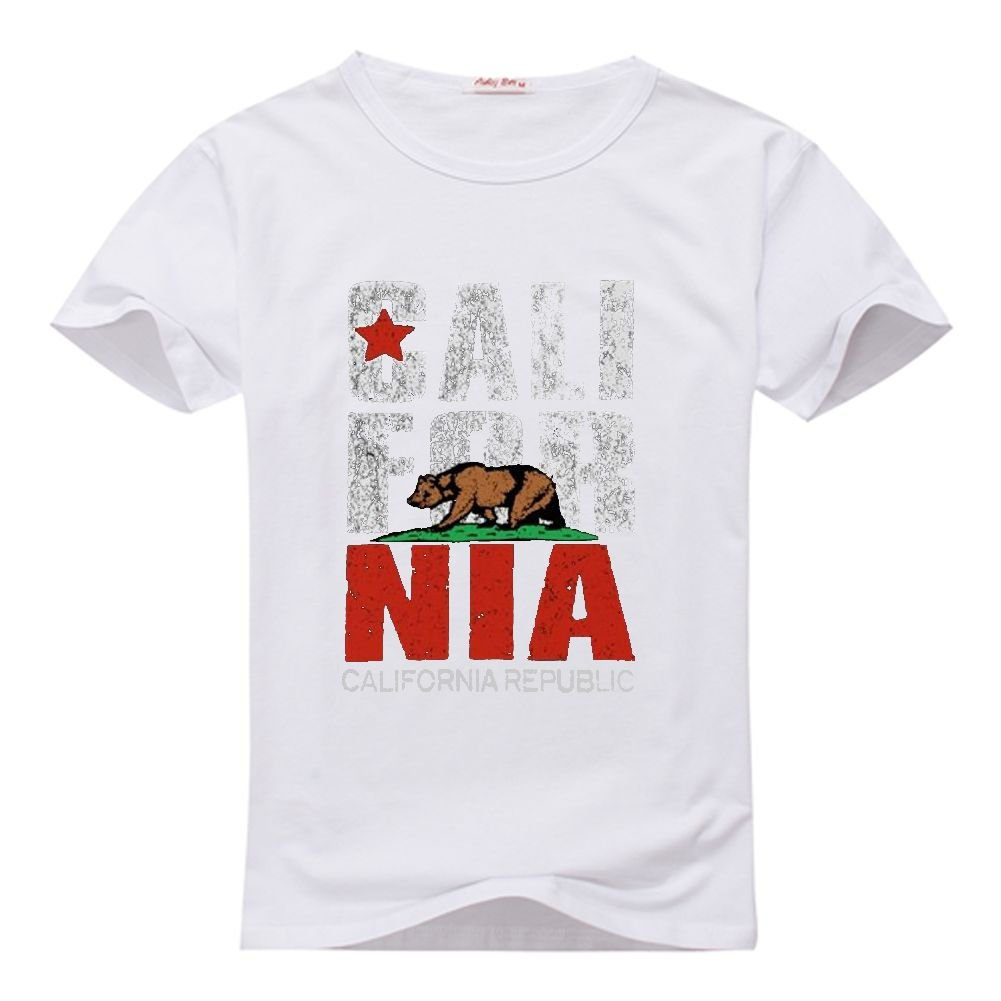 HKdiy California Republic Custom WomenS Classic t-Shirt: Amazon.es: Ropa y accesorios