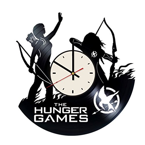 Hunger Games Vinyl Wall Clock Jennifer Lawrence Unique Gifts Living Room Home -