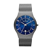 Skagen Men's 233XLTTN Grenen Titanium Watch with Mesh Band