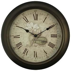 Equity - 12 Inch Brown metal wall clock(26902)