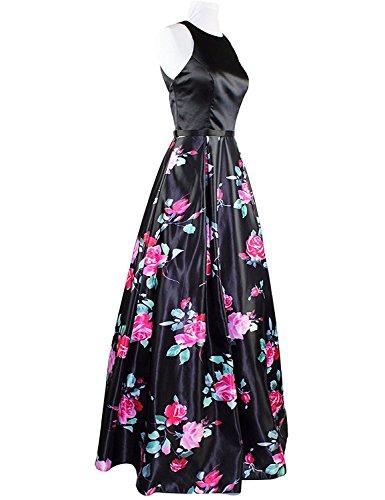 Aurora Robes De Bal De Mariée Une Ligne De Fleurs Longues Femmes Noires 2018 Formelle De Robe De Soirée