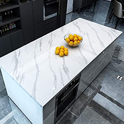 Yenhome Faux Countertops Peel And Stick 60cm X 5m Jazz White