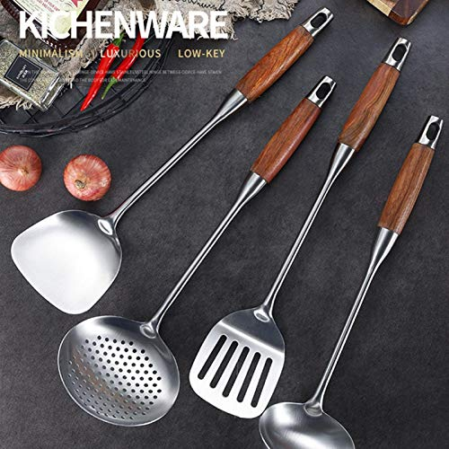 Asixxsix 4 Piece Cooking Tool Set Heat Resistant and Nonstick Cookware Stainless Steel Spatula Kit for Pots and Pans