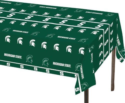 Michigan State Green - Creative Converting Michigan State Spartans Plastic Table Cover, 54