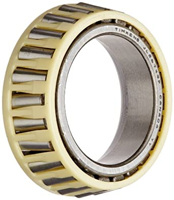 "Timken JL26749F Tapered Roller Bearing, Single Cone, Standard Tolerance, Straight Bore, Steel, Inch, 1.2598"" ID, 0.5910"" Width"