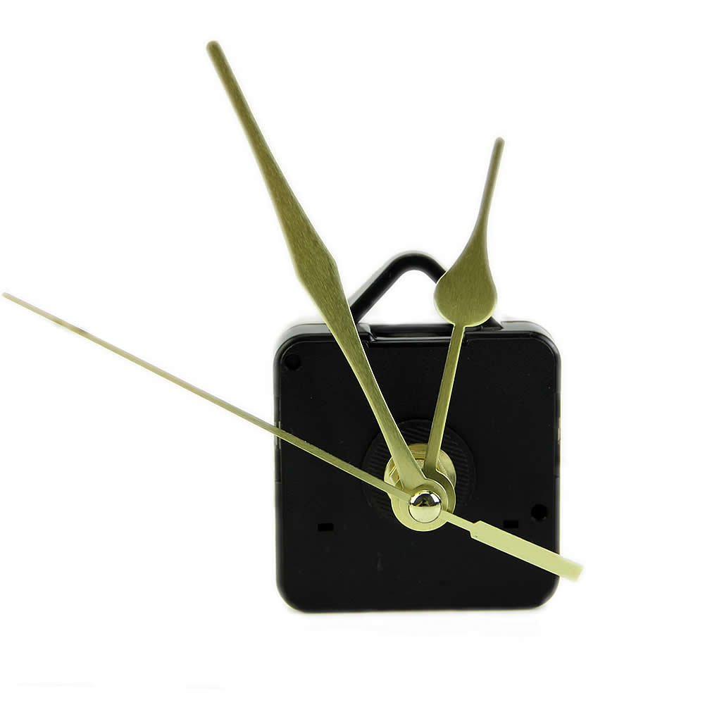 OHTOP DIY Quartz Clock Movement Mechanism Long Spindle Gold Hand Kit