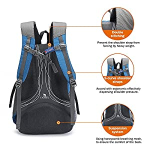 Camel 30L Lightweight Travel Backpack Outdoor mountaineering Hiking Daypack with Durable & Waterproof