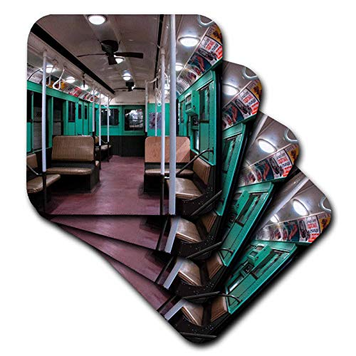 3dRose Roni Chastain NYC - old subway car - set of 8 Coasters - Soft ()