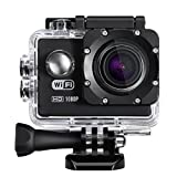 Cymas 2.0Inch Wifi Sports Action Camera Waterproof Full HD 1080P with 170ºWide-angle Lens Action Cameras