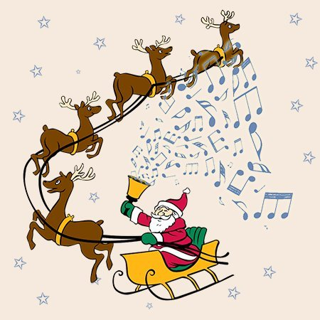 (Santa Rings - Set of 4 Coasters)